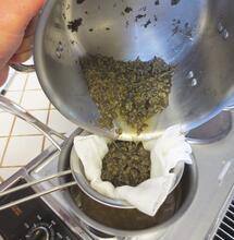 konopné máslo výroba