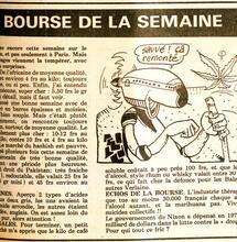 1977 : publication des cours du cannabis dans le journal Libération