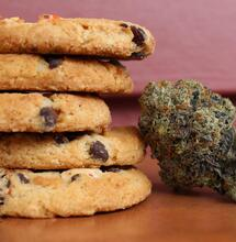 Cookies along with a chunk of weed.