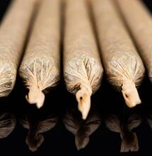 rolled joints.