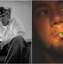 Collage of two Jay-Z photos.