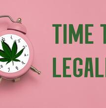 time to legalize clock with banner.