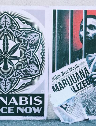 cannabis justice now mural.