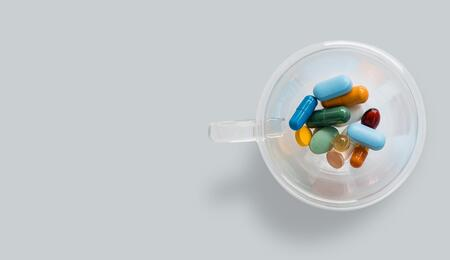 cup of antibiotics.