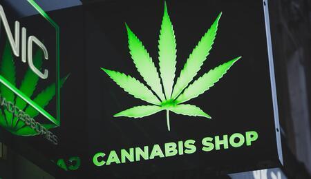 cannabis shop sign.