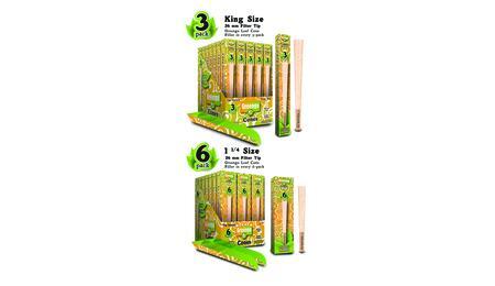 "Cônes Greengo en paquets de 3 unités King Size et de 6 unités de 1 ¼"""