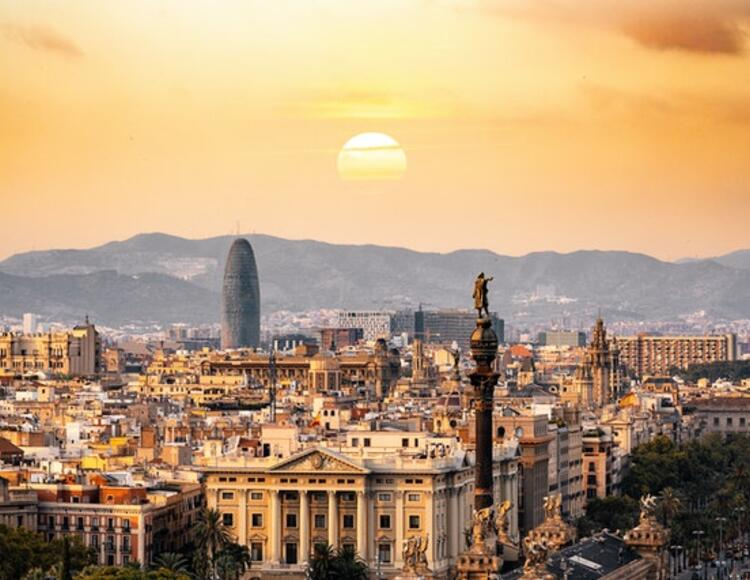 Barcelona city sky line