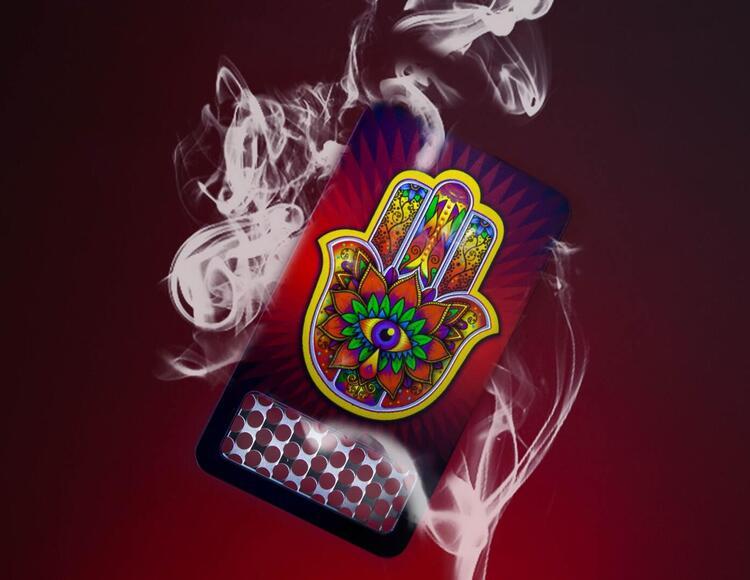 cannabis grinding card.